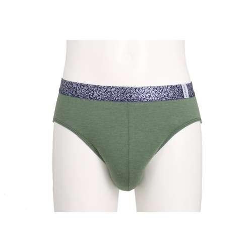 CECEBA Herren Sport-Slip grün melange 1er Pack im 0° Winkel