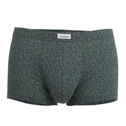 CECEBA Herren Short-Pants grün bedruckt 1er Pack im 0° Winkel