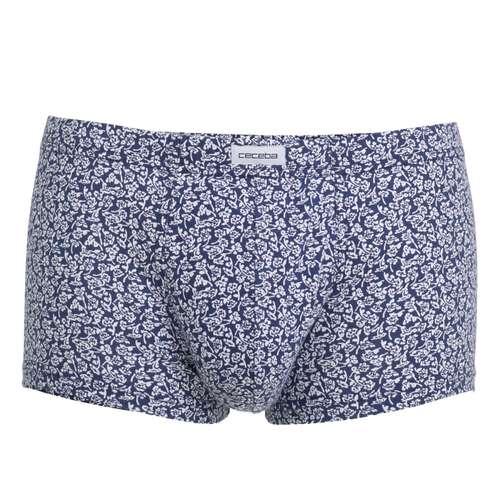 CECEBA Herren Short-Pants blau bedruckt 1er Pack im 0° Winkel