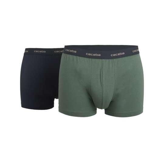 CECEBA Herren Pants grün uni 2er Pack im 0° Winkel