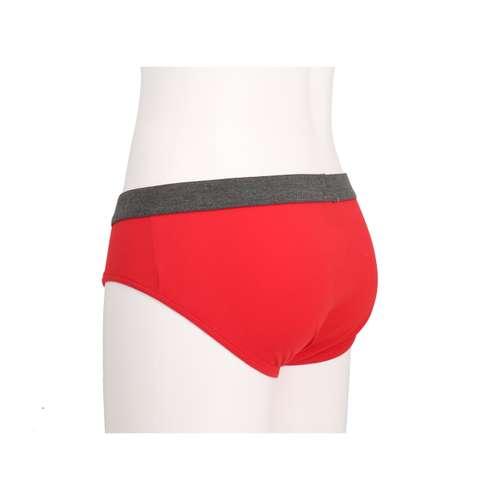 Bild von CECEBA Herren Hip-Sport-Slip rot uni 1er Pack 120° Ansicht