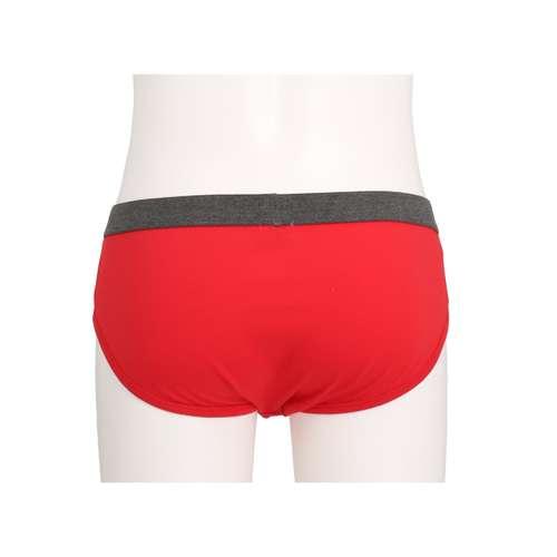 Bild von CECEBA Herren Hip-Sport-Slip rot uni 1er Pack 180° Ansicht