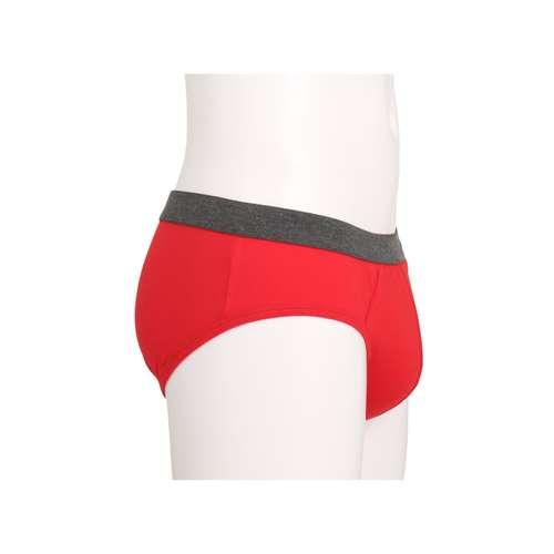 Bild von CECEBA Herren Hip-Sport-Slip rot uni 1er Pack 290° Ansicht