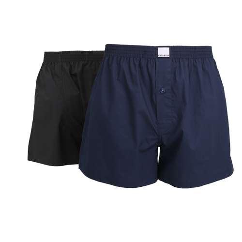 CECEBA Herren Boxershort blau uni 2er Pack im 0° Winkel