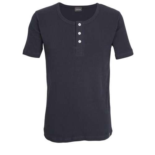 CECEBA Herren Shirt blau uni 1er Pack im 0° Winkel