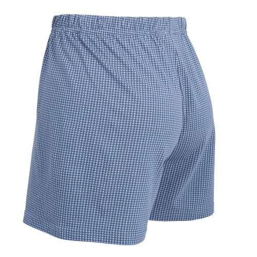 Bild von CECEBA Herren Boxershort blau bedruckt 1er Pack 120° Ansicht