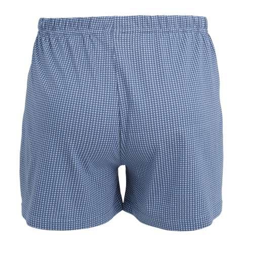 Bild von CECEBA Herren Boxershort blau bedruckt 1er Pack 180° Ansicht