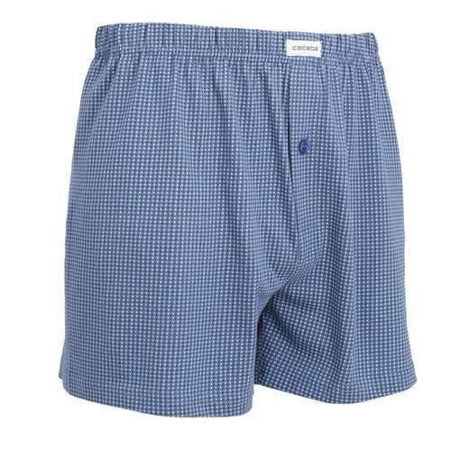 Bild von CECEBA Herren Boxershort blau bedruckt 1er Pack 330° Ansicht