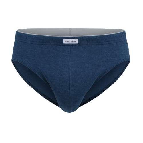 CECEBA Herren Sport-Slip blau melange 1er Pack im 0° Winkel