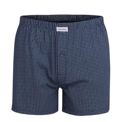 CECEBA Herren Boxershort blau bedruckt 1er Pack im 0° Winkel