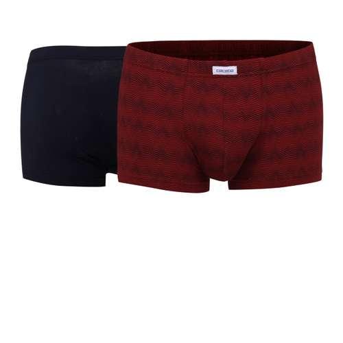 CECEBA Herren Short-Pants rot bedruckt 2er Pack im 0° Winkel