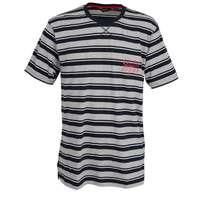 CECEBA Herren T-Shirt blau quergestreift 1er Pack