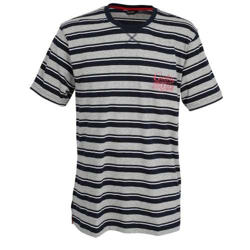 CECEBA Herren T-Shirt blau quergestreift 1er Pack im 0° Winkel