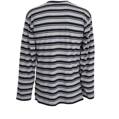 Bild von CECEBA Herren Shirt blau quergestreift 1er Pack 180° Ansicht