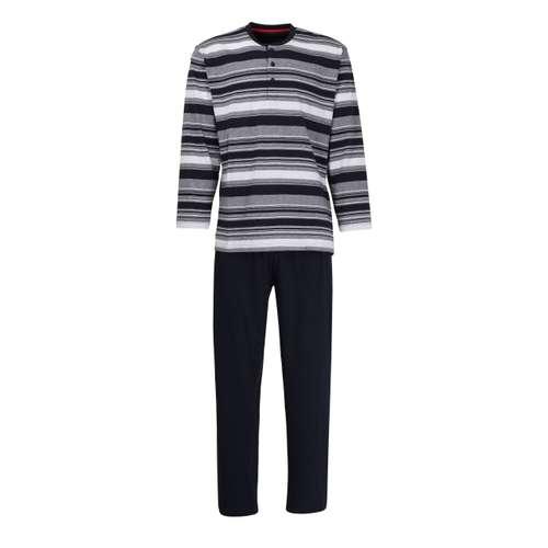 Bild von CECEBA Herren Pyjama blau quergestreift 1er Pack 0° Ansicht
