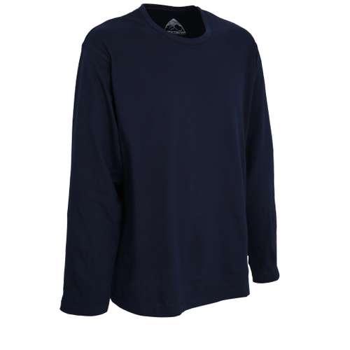 Bild von CECEBA Herren Shirt blau uni 1er Pack 330° Ansicht