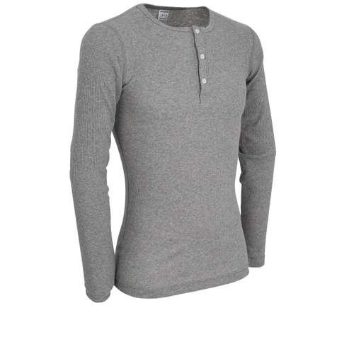 Bild von CECEBA Herren Shirt grau melange 1er Pack 330° Ansicht