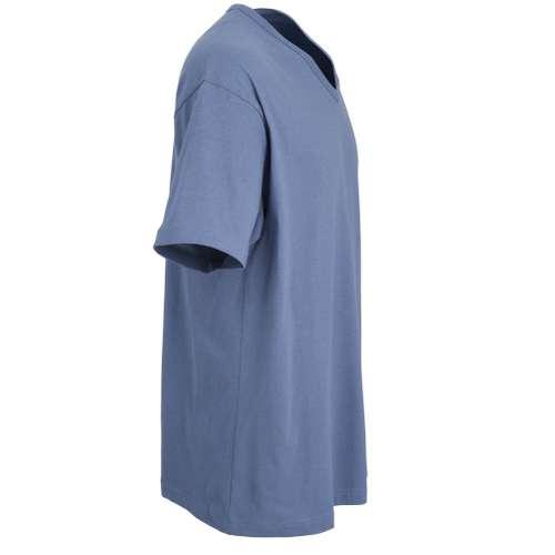 Bild von CECEBA Herren T-Shirt blau melange 1er Pack 290° Ansicht