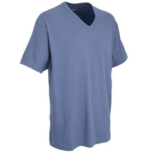 Bild von CECEBA Herren T-Shirt blau melange 1er Pack 330° Ansicht