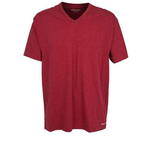 CECEBA Herren T-Shirt rot melange 1er Pack im 0° Winkel