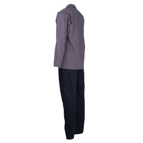 Bild von CECEBA Herren Pyjama blau kariert 1er Pack 120° Ansicht