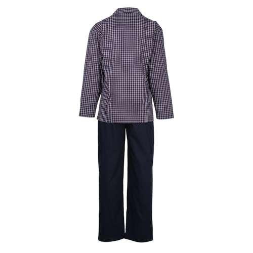 Bild von CECEBA Herren Pyjama blau kariert 1er Pack 180° Ansicht