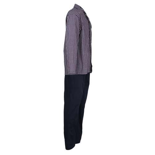 Bild von CECEBA Herren Pyjama blau kariert 1er Pack 290° Ansicht