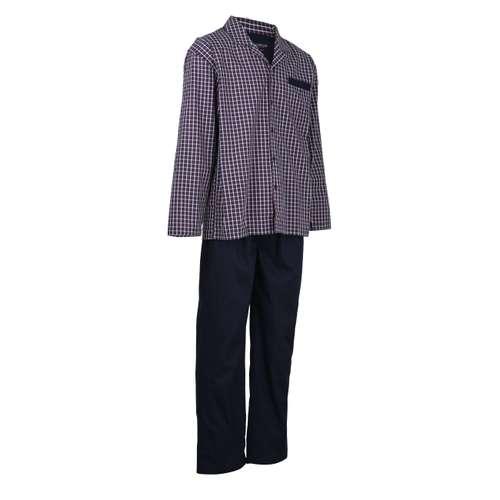 Bild von CECEBA Herren Pyjama blau kariert 1er Pack 330° Ansicht
