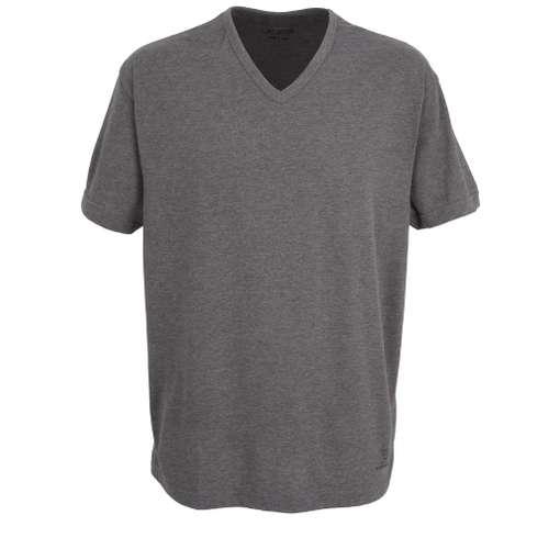 Bild von CECEBA Herren T-Shirt grau melange 1er Pack 0° Ansicht