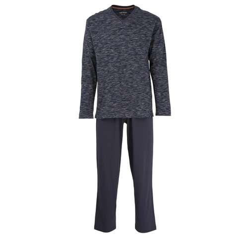 CECEBA Herren Pyjama blau melange 1er Pack im 0° Winkel