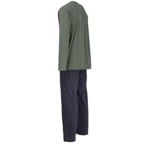 Bild von CECEBA Herren Pyjama grün melange 1er Pack 120° Ansicht