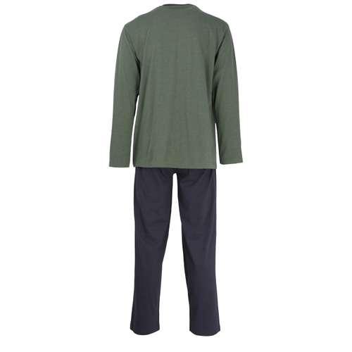 Bild von CECEBA Herren Pyjama grün melange 1er Pack 180° Ansicht