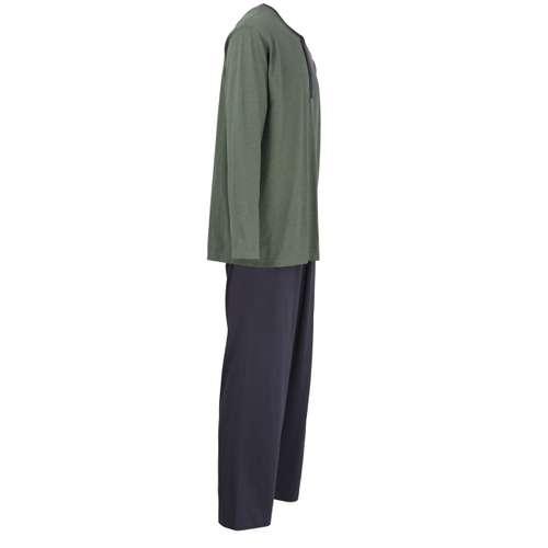 Bild von CECEBA Herren Pyjama grün melange 1er Pack 290° Ansicht