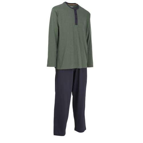 Bild von CECEBA Herren Pyjama grün melange 1er Pack 330° Ansicht