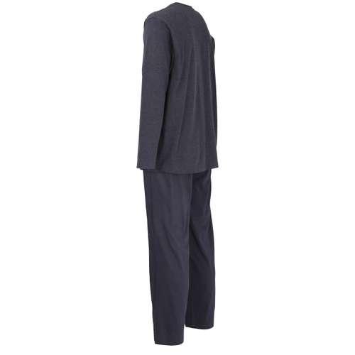Bild von CECEBA Herren Pyjama blau melange 1er Pack 120° Ansicht