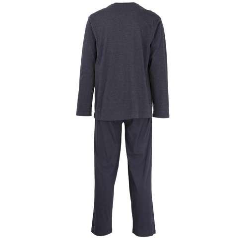 Bild von CECEBA Herren Pyjama blau melange 1er Pack 180° Ansicht