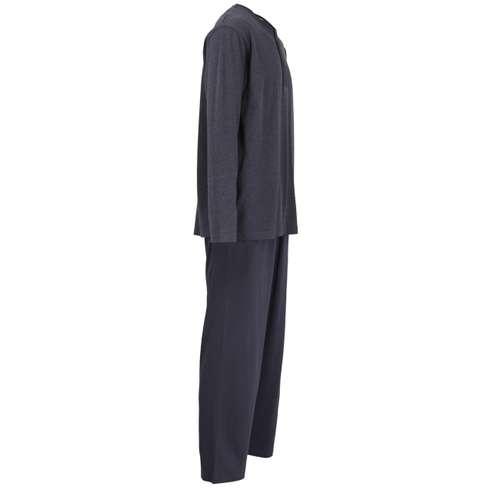 Bild von CECEBA Herren Pyjama blau melange 1er Pack 290° Ansicht