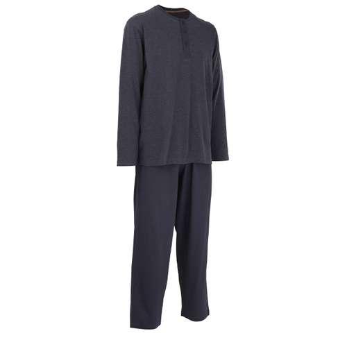 Bild von CECEBA Herren Pyjama blau melange 1er Pack 330° Ansicht