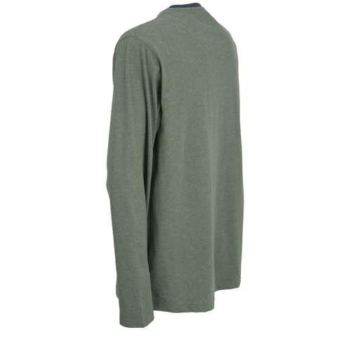 Bild von CECEBA Herren Shirt grün melange 1er Pack 120° Ansicht