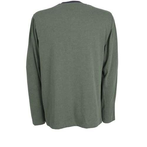 Bild von CECEBA Herren Shirt grün melange 1er Pack 180° Ansicht
