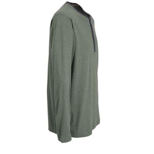 Bild von CECEBA Herren Shirt grün melange 1er Pack 290° Ansicht