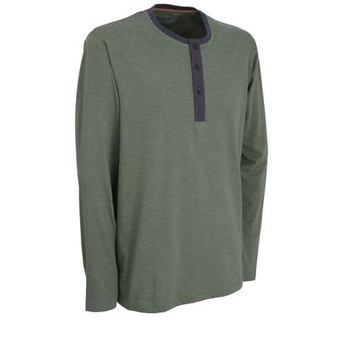 Bild von CECEBA Herren Shirt grün melange 1er Pack 330° Ansicht