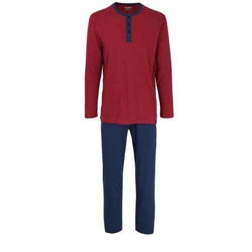 CECEBA Herren Pyjama rot melange 1er Pack im 0° Winkel