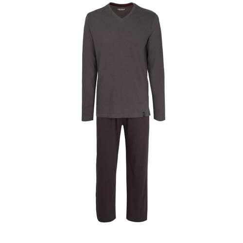 CECEBA Herren Pyjama grau melange 1er Pack im 0° Winkel