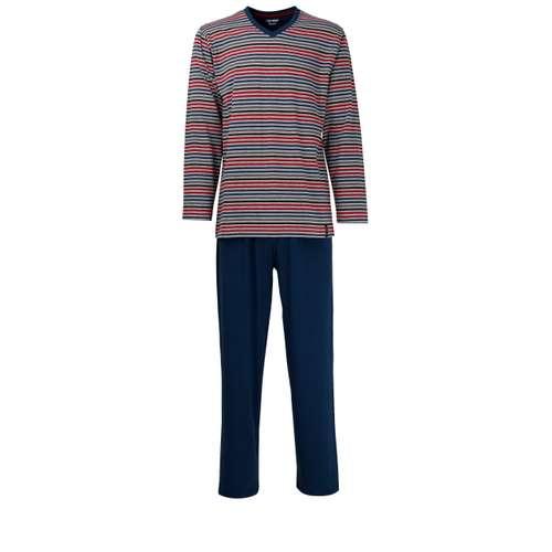 CECEBA Herren Pyjama grau quergestreift 1er Pack im 0° Winkel