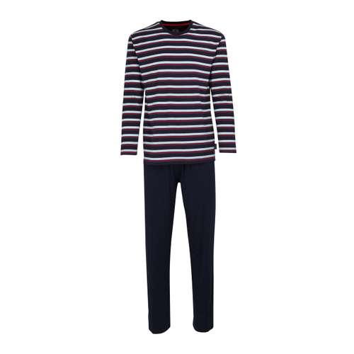 CECEBA Herren Pyjama blau quergestreift im 0° Winkel
