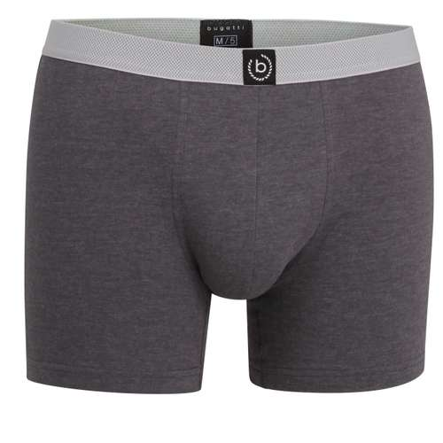 BUGATTI Herren Long-Pants grau melange 1er Pack im 0° Winkel
