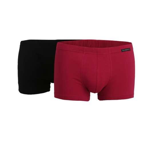 BUGATTI Herren Pants rot uni 2er Pack im 0° Winkel
