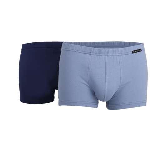 BUGATTI Herren Pants blau uni 2er Pack im 0° Winkel