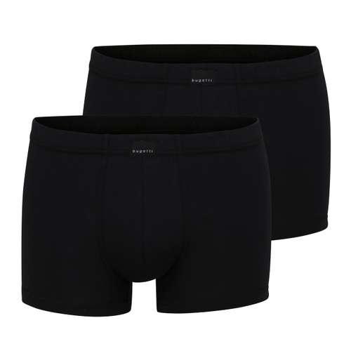 BUGATTI Herren Pants schwarz uni 2er Pack im 0° Winkel